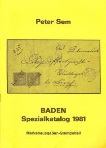 Sem:    BADEN - Spezialkatalog 1981,