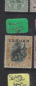 LABUAN   (P1510BB)  4C BROWN MONKEY  SG  112  MOG