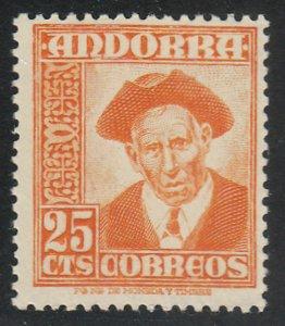 Andorra-Spanish - 1953 - SC 41 - LH