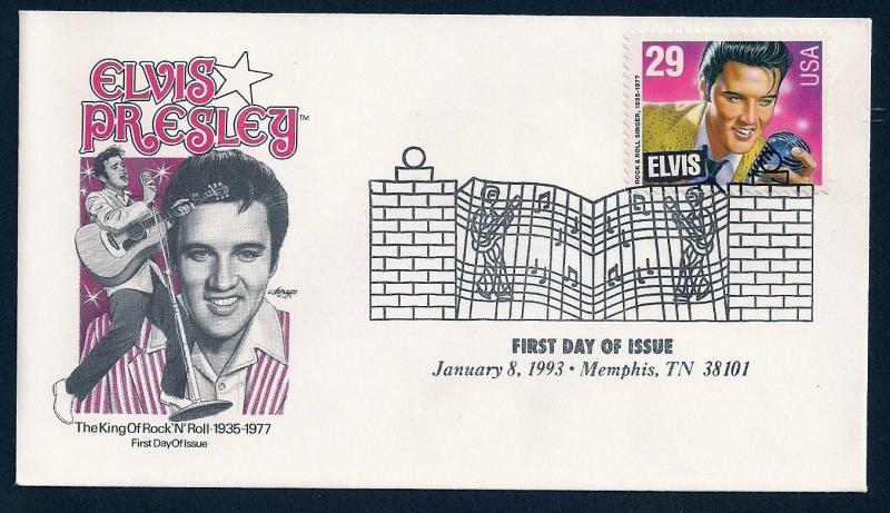 UNITED STATES FDC 29¢ Elvis Presley 1993 Artmaster