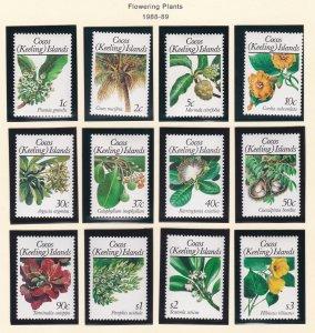 Cocos Islands # 183-198, Flowering Plants, Hinged, 1/3 Cat.