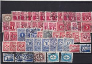 austria used postage due stamps ref 10983