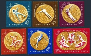 Romania 1452-1457 imperf,1457a,MNH.Michel 2010/6, Bl.50. Olympics,Gold medals.