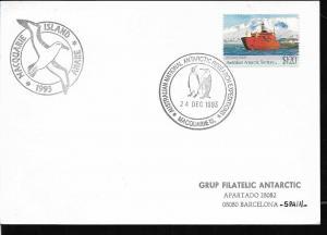 AANT-243 AUSTRALIAN ANTARCTIC TERRITORY 1993 RESEARCH EXPEDITION MACQUARIE BIRDS