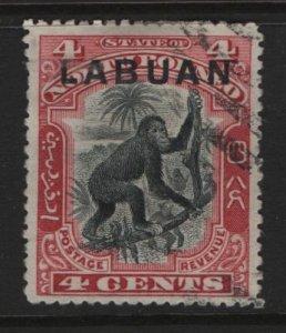 LABUAN, 96, USED, 1899-1901, ORANGUTAN