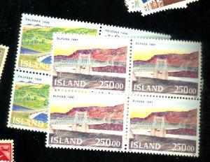 Iceland #754-55 MINT Blocks VF OG NH Cat$39