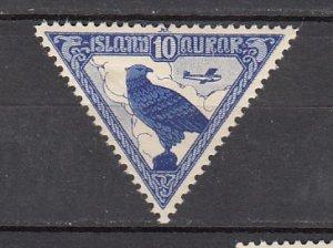 J26392  jlstamps 1930 iceland used #c3 falcon