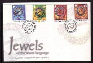 Isle of Man Sc 824-7 199 Celtic Jewelry stamp set FDC