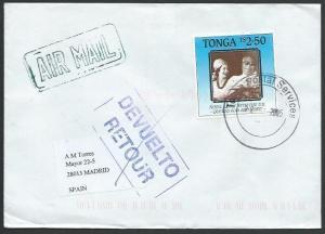TONGA 2005 cover to SPAIN,  Returned to Sender.............................51913