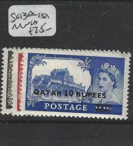 QATAR   (P1804B)  ON   GB  QEII  CASTLES TYPE II  SG 13A-15A  MNH