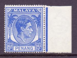 Malaya Penang Scott 13 - SG13, 1949 George VI 15c MH*