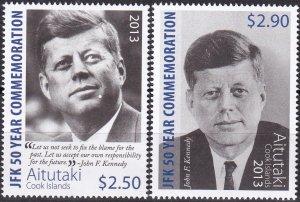 Aitutaki #615-6  MNH   CV $9.00  (Z8872)