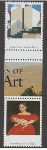 U.S. Scott #3236 American Art Stamps - Mint NH Horizontal Gutter Pair