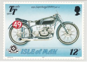 Isle of Man # 335-339, Tourist Trophy Motorcycle Races, Maxi Cards Mint Unused