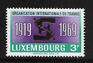 LUXEMBOURG 479 MNH ILO 50TH ANNIV