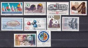 Germany #1374-83 F-VF Unused  CV $10.10 (Z7455)