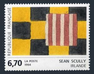 France 2381,MNH.Michel 3004. Art 1993.Abstract Squares,by Sean Scully,Ireland.