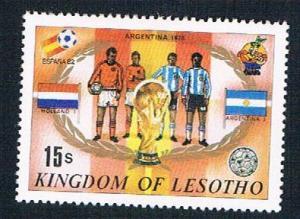 Lesotho 363k MLH Soccor Champions  1978 Argentina 1982 (BP32215)