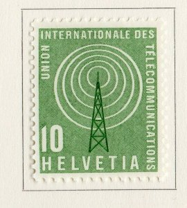 Switzerland Helvetia 1958 Early Issue Fine Mint Hinged 10c. NW-170836