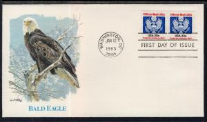 US O135 Official Mail Fleetwood U/A FDC