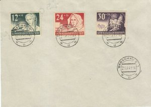Cover Germany Poland GG Mi 55-8 WWII 1941 Third Reich Warsaw Winter Life Set CTO