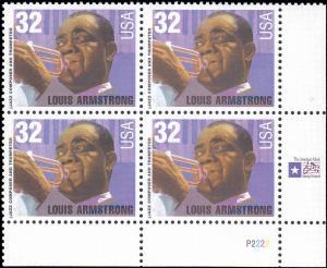 Scott 2982 Louis Armstrong PB MNH CV $3.60