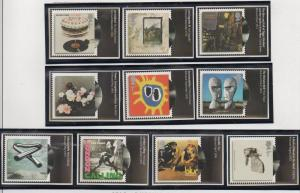 Great Britain Sc 2724-33 2010 Album Covers stamp set mint NH