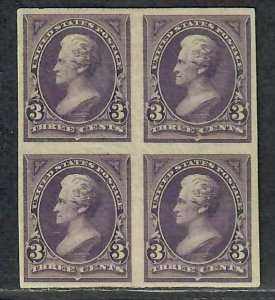 $US Sc#253p5 block M/VF Plate Proof on stamp paper RG PF Cert. formerly 253a