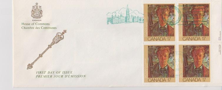 CANADA FDC FROM HOUSE OF COMMONS STAMPS #888  LOT#M100