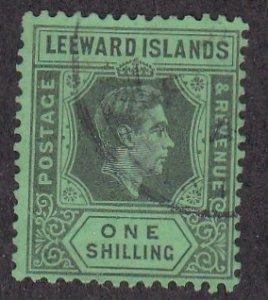 Leeward Islands # 117, King George VI, Used, 1/3 Cat.