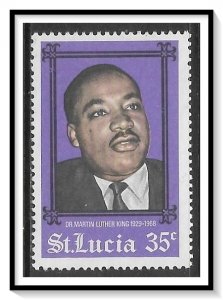 St Lucia #236 Martin Luther King MNH