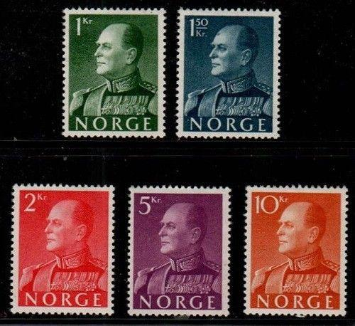 Norway Scott 370-74 Mint hinged (Catalog Value $90.50)