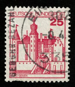 Burg Gemen, Deutsche BundesPost, 25 Pfg., Germany (T-7100)