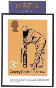 MS2713 1973 GB CRICKET PHQ.1 *Signed* MAXI-CARD Used Postal Museum Cancel SPORT