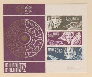 Malta Scott #B12a Stamp - Mint NH Souvenir Sheet