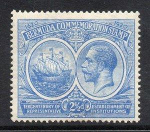 Bermuda 1920 KGV Tercentenary 2½d SG 66 mint