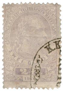 (I.B) Austria Telegraphs : State Telegram 2fl (1873)