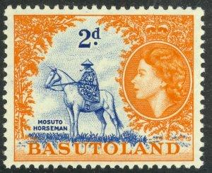 BASUTOLAND 1954 QE2 2d MOSUTO HORSEMAN Pictorial Sc 48 MLH