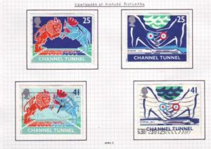 Great Britain  Sc 1558-1 1994 Channel Tunnel stamps used
