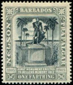Barbados SC# 110 SG# 158 Lord Nelson's Monument 1f WMK 3 MH