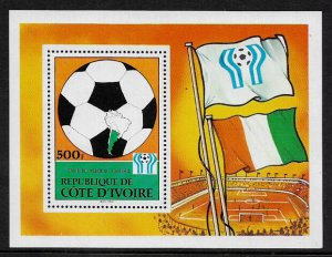 Ivory Coast #471 MNH S/Sheet - World Cup Soccer