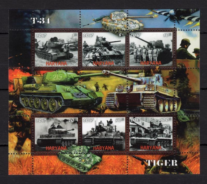 1pcs Transport Military War Tank Tanks Tiger T-34 -Private Local issue/ not MNH
