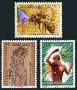 Luxembourg 743-745,MNH.Mi 1147-1149. Beekeepers,Mondorf Spa,Table tennis,1986.