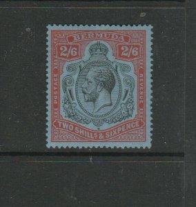 Bermuda 1924/32 Script CA 2/6 Black & Carmine/light blue MM SG 89