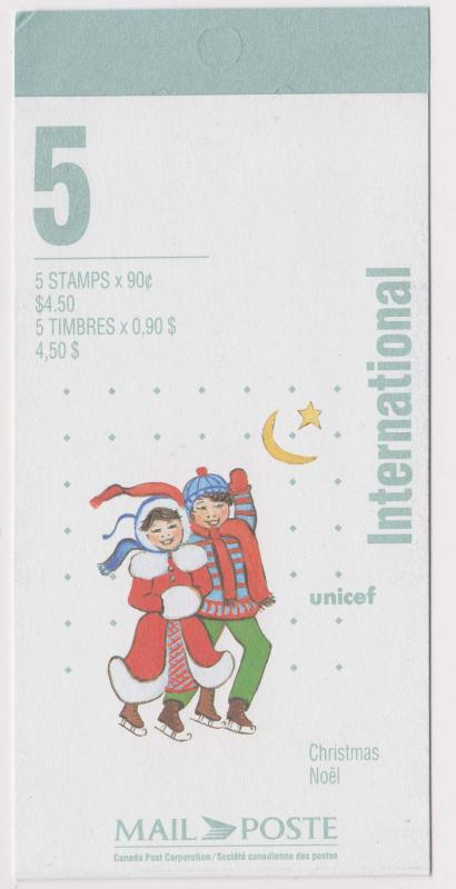 Canada - #BK198a - 1996 Xmas Skaters Complete Booklet