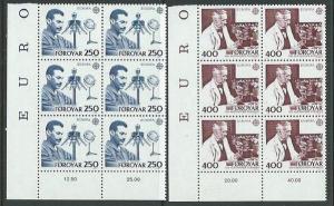 FAROE ISLANDS Sc. 95-6 Europa 1983 MNH blocks of 6........................61709