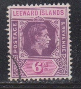 LEEWARD ISLANDS - Scott # 110 Used - KGVI