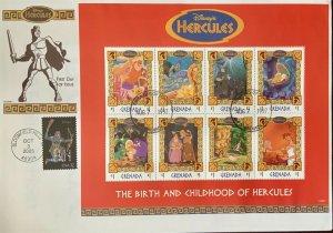HNLP Hideaki Nakano 3947 Constellation on Disney's Hercules Grenada Sheet