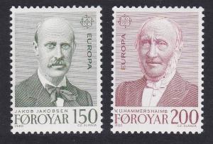 Faroe Is. Europa CEPT issue 1980 2v SG#52-53 SC#53-54