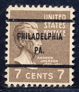 Philadelphia PA, 812-61 Bureau Precancel, 7¢ Jackson